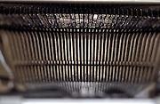 view of antique typewriter type bars