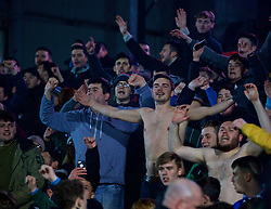 NEWPORT, WALES - Wednesday, December 21, 2016: Plymouth Argyle supporters take their tops off during the FA Cup 2nd Round Replay match against Newport County at Rodney Parade. (Pic by David Rawcliffe/Propaganda)