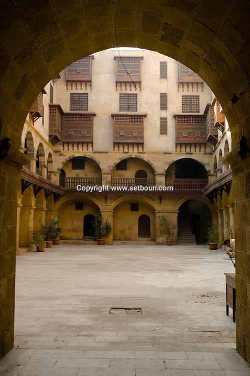 Egypt. Cairo -wakala Bazara traditional house and caravanserail after restauration . in Gamalyyah.  islamic Cairo  NM398 +