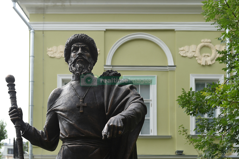 July 28, 2017 - Moscow, Russia - Russia, Moscow. The monument to Grand Prince of Moscow and All Russia Ivan IV (Ivan the Terrible) by sculptor Vasily Selivanov is fixed at the Alley of Rulers in Petroverigsky Pereulok. (Credit Image: © Russian Look via ZUMA Wire)