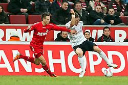 05.02.2010,  Rhein Energie Stadion, Koeln, GER, 1.FBL, FC Koeln vs FC Bayern Muenchen, 21. Spieltag, im Bild: Adam Matuschyk (Koeln #25) (li.) gegen Bastian Schweinsteiger (Muenchen #31)  EXPA Pictures © 2011, PhotoCredit: EXPA/ nph/  Mueller       ****** out of GER / SWE / CRO  / BEL ******