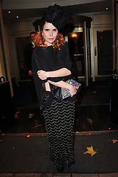 Paloma Faith attends the Amy Winehouse Foundation Ball, The Dorchester, London, United Kingdom, November 20, 2012. Photo By Nils Jorgensen / i-Images.