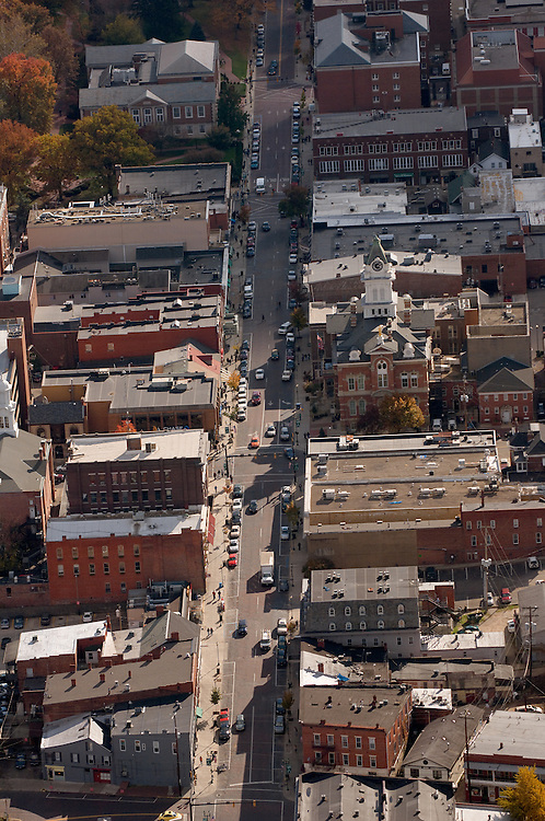 Aerial view of Court Street. © Ohio University
