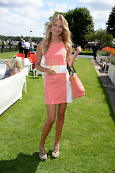 ZOE COLE at the Audi International Polo at Guards Polo Windsor Great Park, Egham, Surrey on 28th July 2013.