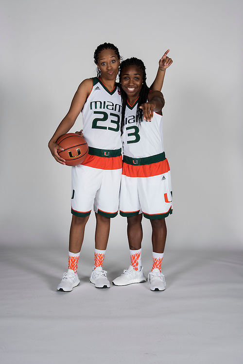 2017 Miami Hurricanes Women's Basketball Photo Day