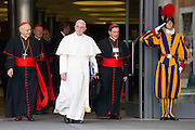 Vatican City oct 9th, 2015, extraordinary synod on family. in the picture pope Francis