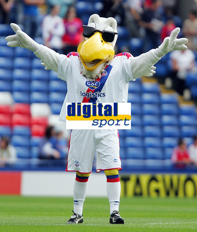Crystal Palace FC vs Burnley FC Championship 23/08/08<br /> Photo Nicky Hayes/Fotosports International<br /> Palace's mascot salutes the fans.