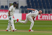 Chris Rushworth (Durham County Cricket Club)in action during the LV County Championship Div 1 match between Durham County Cricket Club and Warwickshire County Cricket Club at the Emirates Durham ICG Ground, Chester-le-Street, United Kingdom on 14 July 2015. Photo by George Ledger.