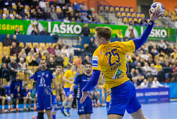 Tilen Kodrin of Celje during handball match between RK Celje Pivovarna Lasko and RK Zagreb PPD in Round #13 of SEHA Gazprom League 2017/18, on February 4, 2018 in Arena Zlatorog, Celje, Slovenia. Photo by Vid Ponikvar / Sportida