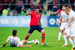 Mohammed Abdellaoue of Norway during the FIFA World Cup 2014 Group E qualification match between Slovenia and Norway on October 11, 2013 in Stadium Ljudski vrt, Maribor, Slovenia. (Photo by Urban Urbanc / Sportida)