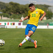 TOULON, FRANCE June 15.  Paulinho #33 of Brazil in action during the Brazil U22 V Japan U22 Final match at the Tournoi Maurice Revello at Stade D'Honneur on June 15th 2019 in Toulon, Provence, France. (Photo by Tim Clayton/Corbis via Getty Images)
