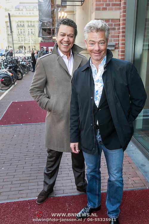 NLD/Amsterdam/20130428 - Premiere Jon en de Jongens, Frank Sanders en partner