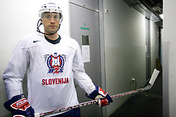 Greg Kuznik at first practice of Slovenian National Ice hockey team before World championship of Division I - group B in Ljubljana, on April 5, 2010, in Hala Tivoli, Ljubljana, Slovenia.  (Photo by Vid Ponikvar / Sportida)