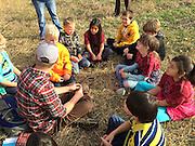 Intern Evan teaching kids about local food