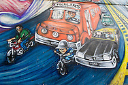 Argentina. Buenos Aires. MURALES - mural paintings on 9th of July avenue  Buenos Aires -    / PEINTURE murale sur l'avenue du 9 juillet  Buenos Aires - Argentine  R029