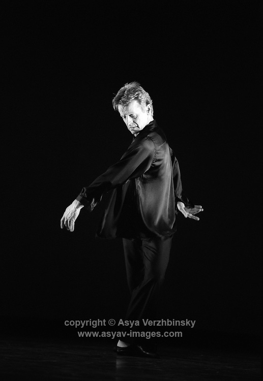 """Michael Baryshnikov, ex-Kirov dancer who defected to the Unites States in the 1970's dancing in Lucinda Childs' """"Largo"""", as part of the collaboration with Twila Tharp entitled the White Oak Project."""