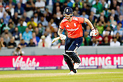 Ben Stokes tries to get some runs on the board for England during the International T20 match between England and Pakistan at the Emirates, Old Trafford, Manchester, United Kingdom on 7 September 2016. Photo by Craig Galloway.