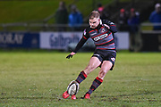 Jaco van der Walt opens scoring with a penalty during the Guinness Pro 14 2017_18 match between Edinburgh Rugby and Southern Kings at Myreside Stadium, Edinburgh, Scotland on 5 January 2018. Photo by Kevin Murray.