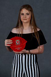NEWPORT, WALES - Saturday, May 19, 2018: Lucy Farrell during the Football Association of Wales Under-16's Caps Presentation at the Celtic Manor Resort. (Pic by David Rawcliffe/Propaganda)