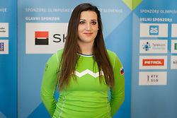 Kaja Verdnik during presentation of Team Slovenia at Lillehammer 2016 Winter Youth Olympic games, on February 4, 2016 on Bled, Slovenia. Photo by Ziga Zupan / Sportida