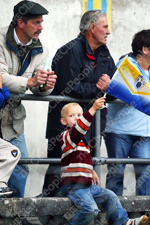 One young fan at the Inagh Kilnamona V Eire Og game on Saturday 16th September at Cusack park.<br />