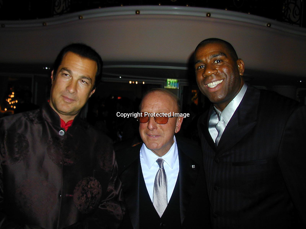Steven Seagal, Clive Davis &amp; Magic Johnson<br />Arista Records Pre Grammy Bash Hosted By Clive Davis<br />Beverly Hills Hotel<br />Los Angeles, California, USA<br />Tuesday,February 22, 2000<br />Photo By Celebrityvibe.com/Photovibe.com