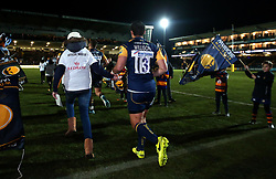 Jackson Willison of Worcester Warriors runs out to face London Irish  - Mandatory by-line: Robbie Stephenson/JMP - 22/12/2017 - RUGBY - Sixways Stadium - Worcester, England - Worcester Warriors v London Irish - Aviva Premiership