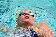 Belo Horizonte_MG, Brasil...A nadadora Carin Muler, da Suecia, na prova de 200m costas, durante a  ultima etapa da Copa do Mundo de Natacao 2006 em Belo Horizonte...The swimmer Camelia Potec, of Sweden, in the 100 m backstroke, during the last stage of the Swimming World Cup 2006 in Belo Horizonte...Foto: LEO DRUMOND / NITRO.