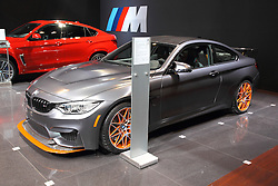 11 February 2016: BMW  M4 GTS Coupe.<br /> <br /> First staged in 1901, the Chicago Auto Show is the largest auto show in North America and has been held more times than any other auto exposition on the continent.  It has been  presented by the Chicago Automobile Trade Association (CATA) since 1935.  It is held at McCormick Place, Chicago Illinois<br /> #CAS16