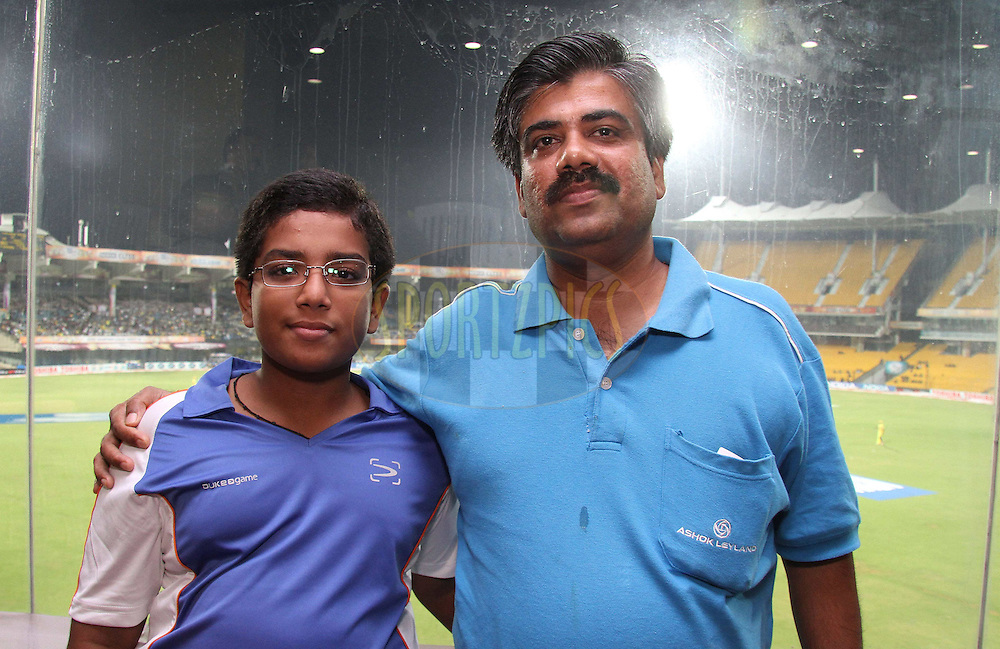 Abhijip and Mohan Kannath during match 3 of the NOKIA Champions League T20 ( CLT20 )between the Chennai Superkings and the Mumbai Indians held at the M. A. Chidambaram Stadium in Chennai , Tamil Nadu, India on the 24th September 2011..Photo by Shaun Roy/BCCI/SPORTZPICS