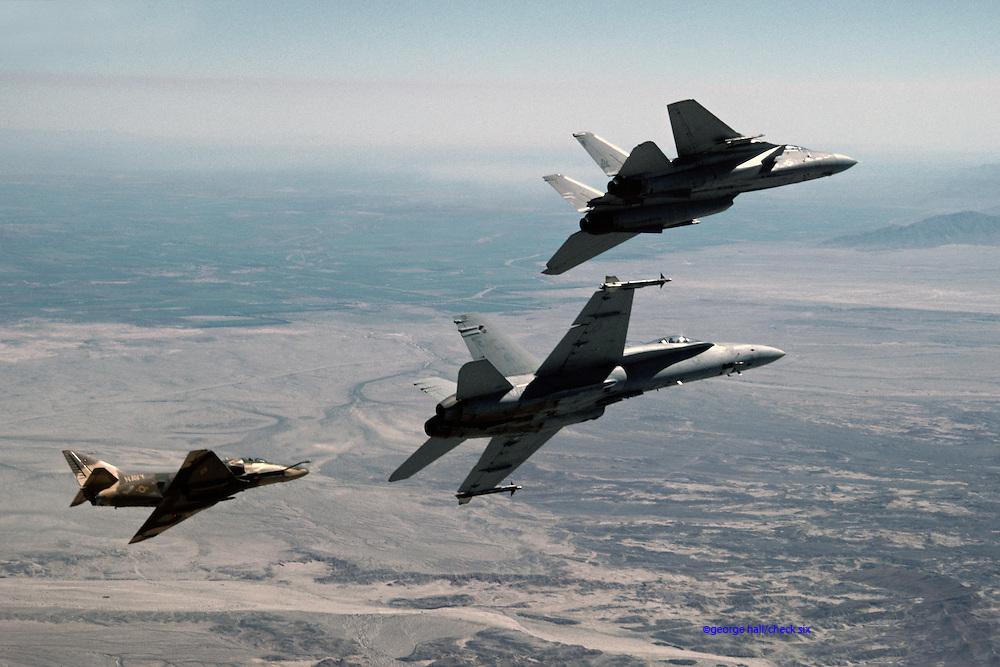 F/A-18A, VMFA-531, with TOPGUN jets