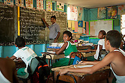 Master Reddy's classroom at Vuanicau Primary School in Tongo village on Qamea Island, Fiji.