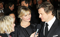 LONDON - NOVEMBER 07: Cameron Diaz; Colin Firth attended the World Film Premiere of 'Gambit' at the Empire Cinema, Leicester Square, London, UK. November 07, 2012. (photo by Richard Goldschmidt)