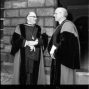 18/05/1961<br /> 05/18/1961<br /> 18 May 1961<br /> Honorary degrees at Trinity College Dublin (T.C.D.), Dublin.