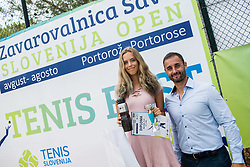 Alja Belinger and Aljaz Kos during Day 6 at ATP Challenger Zavarovalnica Sava Slovenia Open 2018, on August 8, 2018 in Sports centre, Portoroz/Portorose, Slovenia. Photo by Vid Ponikvar / Sportida