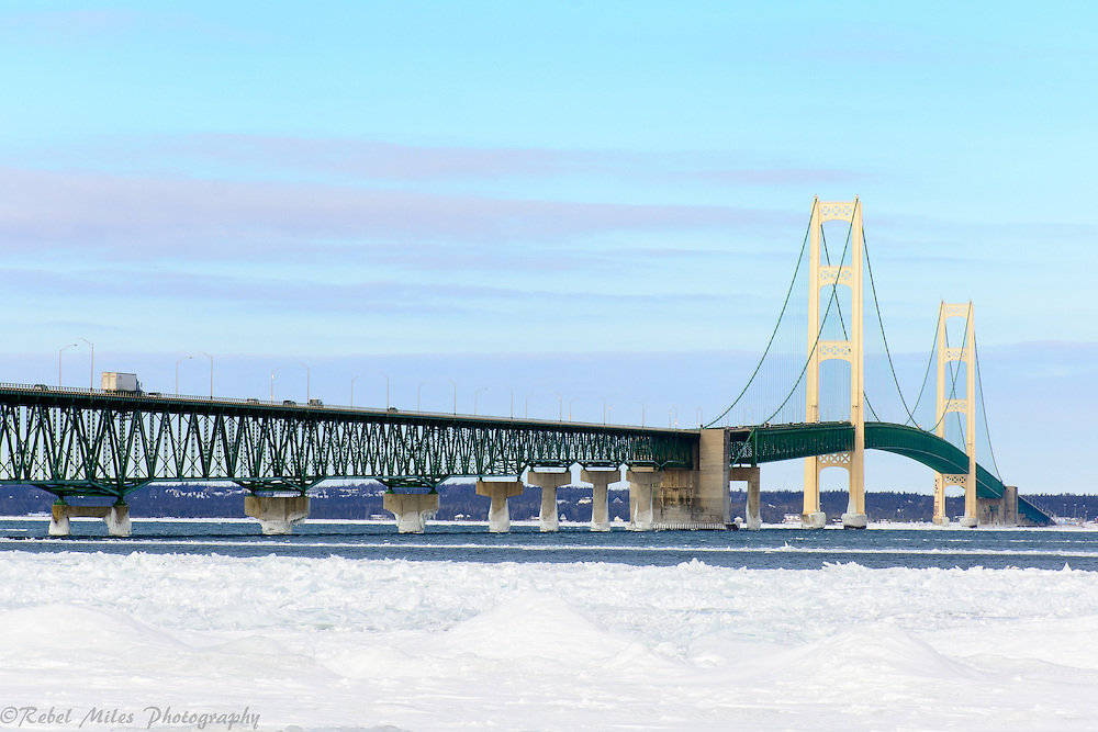 Panoramic Mackinac Bridge