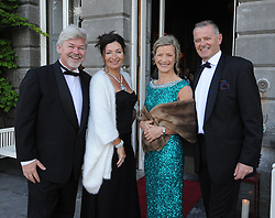 Pictured at the Mid-Summer Banquet at Westport Food Festival at Wesport House on friday last were Manus and Grainne Bray, Mary Walsh and Pat Horkan.<br /> Pic Conor McKeown