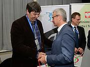 Spala 17/11/2014<br /> Konferencja trener&oacute;w szkolenia olimpijskiego<br /> Na zdj. Minister Andrzej Biernat oraz Philip Blain<br /> Fot. Piotr Hawalej
