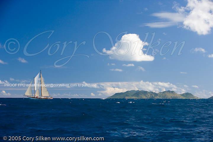 Charm III at the first annual St. Maarten Classic Yacht Regatta