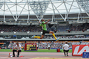 Godfrey Khotso Mokoena during the Sainsbury's Anniversary Games at the Queen Elizabeth II Olympic Park, London, United Kingdom on 25 July 2015. Photo by Mark Davies.