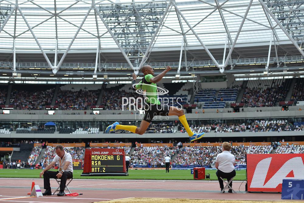 Godfrey Khotso Mokoena during the Sainsbury's Anniversary Games at the Queen Elizabeth II Olympic Park, London, United Kingdom on 25 July 2015. Photo by Mark Davies.