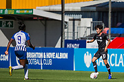 Ji So-Yun (Chelsea) with the ball and Ini Umotong (Brighton) heading towards her during the FA Women's Super League match between Brighton and Hove Albion Women and Chelsea at The People's Pension Stadium, Crawley, England on 15 September 2019.
