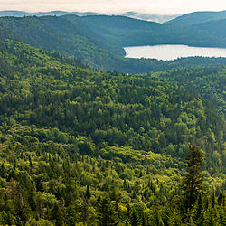 View from the fire tower on Deboullie Mountain in Aroostook County, Maine. Deboullie Public Reserve Land.