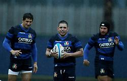 November 20, 2018 - Rome, Italy - Rugby Italy training - Cattolica Test Match.Alessandro Zanni and Oliviero Fabiani at Giulio Onesti Sport Center in Rome, Italy on November 20, 2018. (Credit Image: © Matteo Ciambelli/NurPhoto via ZUMA Press)