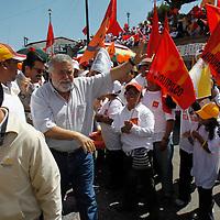 """JIQUIPILCO, Mex.- Alejandro Encinas, candidato por la coalición """"Unidos podemos más"""" a la gubernatura del Estado de México, sostuvo reuniones masivas en los municipios de Jiquipilco, Temoaya, Otzolotepec y Xonacatlán, en donde hizo un llamado a la población a salir a votar el próximo 3 de julio por esta coalición. Agencia MVT / Crisanta Espinosa. (DIGITAL)<br /> <br /> NO ARCHIVAR - NO ARCHIVE"""