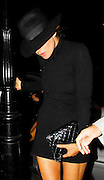 10.SEPTEMBER.2007. LONDON<br /> <br /> KATE MOSS LEAVING THE CAMBRIDGE THEATRE, SOHO WHERE SHE WATCHED KELLY OSBOURNE IN ACTION IN CHICAGO BEFORE RETURNING TO DAVINIA TAYLOR'S HOUSE WEARING A HAT AND HER KNEES LOOK VERY BONEY.<br /> <br /> BYLINE: EDBIMAGEARCHIVE.CO.UK<br /> <br /> *THIS IMAGE IS STRICTLY FOR UK NEWSPAPERS AND MAGAZINES ONLY*<br /> *FOR WORLD WIDE SALES AND WEB USE PLEASE CONTACT EDBIMAGEARCHIVE - 0208 954 5968*
