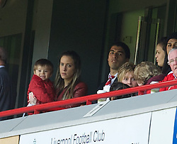 05.05.2013, Anfield, Liverpool, ENG, Premier League, FC Liverpool vs FC Everton, 36. Runde, im Bild Liverpool's banned Luis Alberto Suarez Diaz watches the game from an executive box Everton with his wife Sofia during the English Premier League 36th round match between Liverpool FC and Everton FC at Anfield, Liverpool, Great Britain on 2013/05/05. EXPA Pictures © 2013, PhotoCredit: EXPA/ Propagandaphoto/ David Rawcliffe..***** ATTENTION - OUT OF ENG, GBR, UK *****