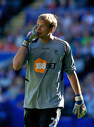 BOLTON, ENGLAND - Easter Sunday, April 24, 2011: Bolton Wanderers' goalkeeper Jussi Jaaskelainen in action against Arsenal during the Premiership match at the Reebok Stadium. (Photo by David Rawcliffe/Propaganda)
