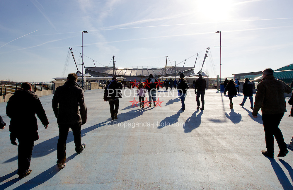 MANCHESTER, ENGLAND - Sunday, February 17, 2013: A general view of City of Manchester Stadium before the FA Cup 5th Round match between Manchester City and Leeds United. (Pic by Vegard Grott/Propaganda)