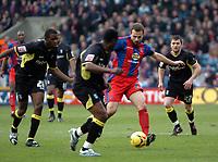 Photo: Tony Oudot.<br />Crystal Palace v Birmingham City. Coca Cola Championship. 17/02/2007.<br />Carl Fletcher of Crystal Palace takes on the Birmingham defence
